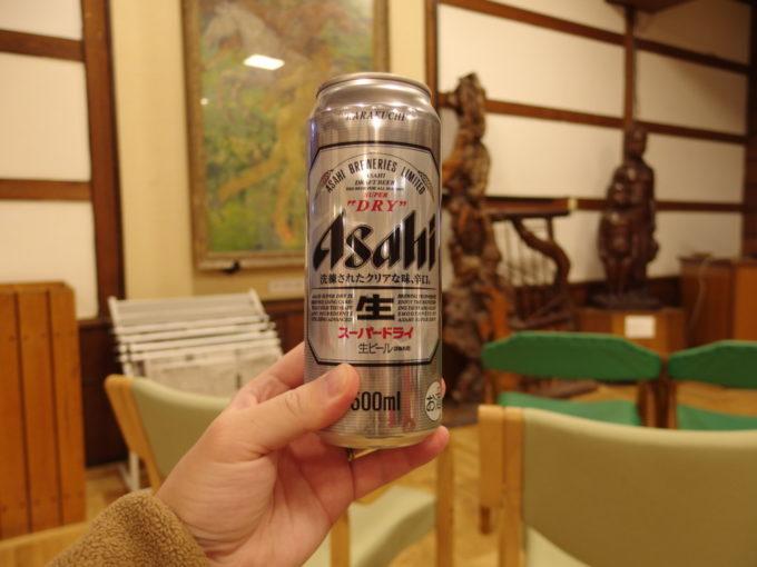 酸ヶ湯温泉湯上がりの冷たいビール