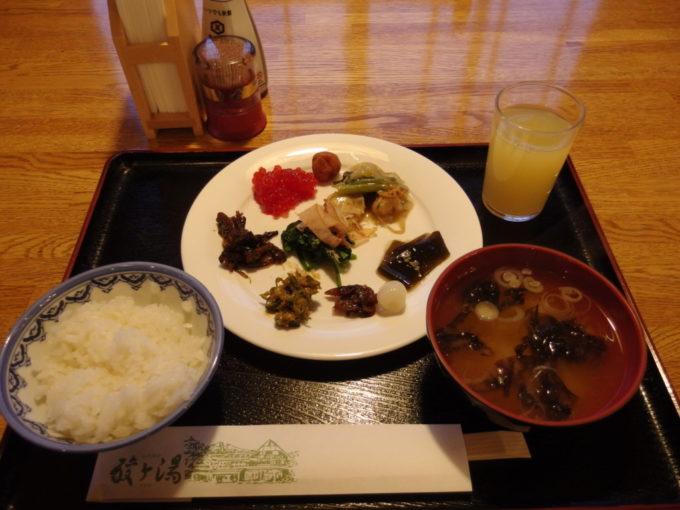酸ヶ湯温泉旅館3日目朝食
