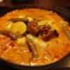 ジンギスカン鍋でトマトチーズタッカルビ風