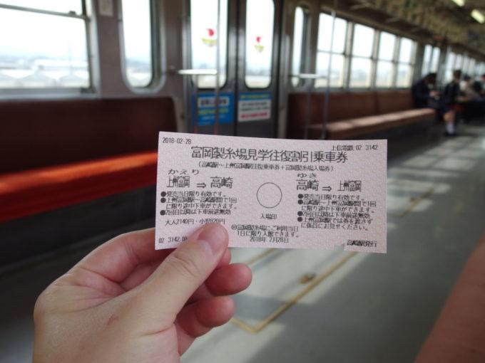 上信電鉄富岡製糸場見学往復割引乗車券