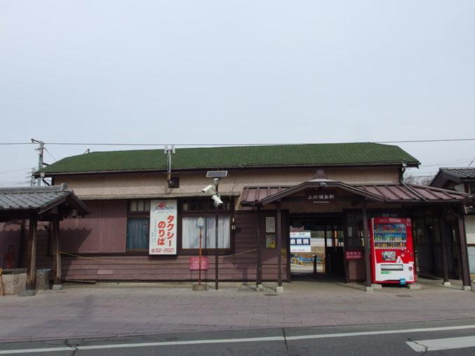 渋い佇まいの上信電鉄上州福島駅