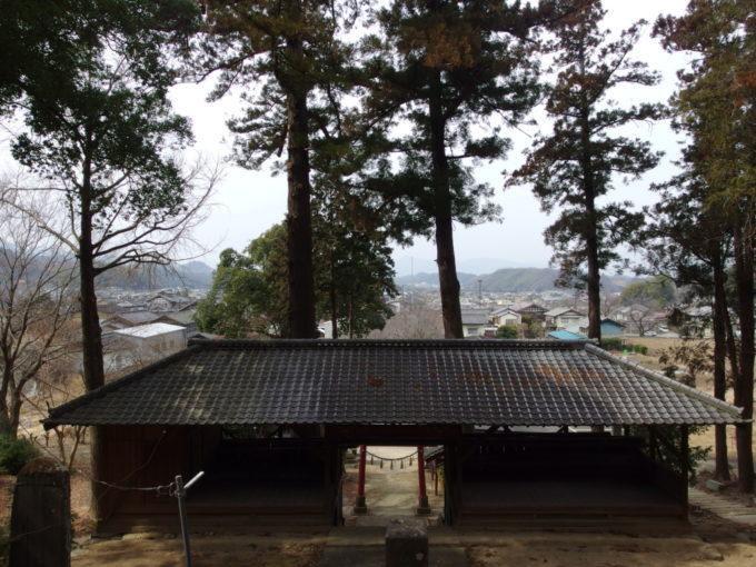 小幡八幡宮から望む上州の田園風景