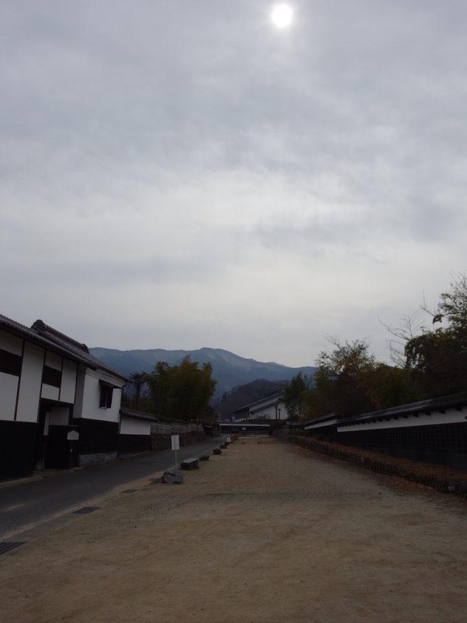 群馬県甘楽町小幡の城下町中小路