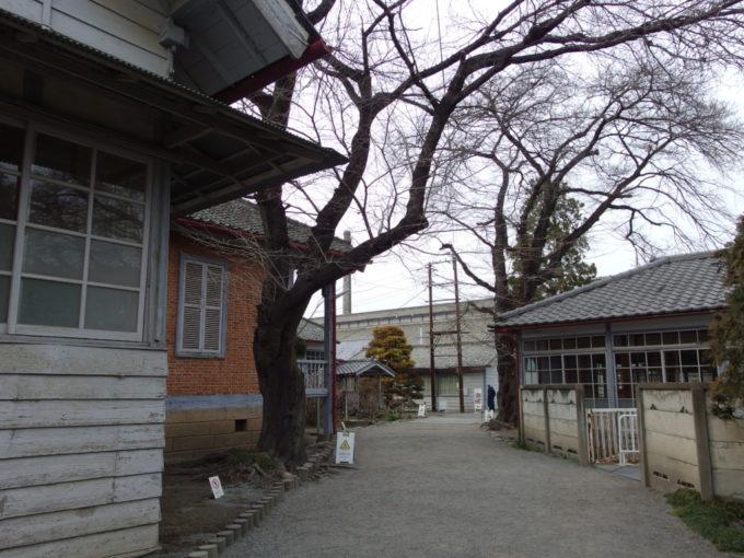 富岡製糸場生活感を残す敷地内の通り