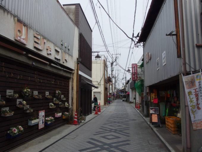 富岡の味のある商店街