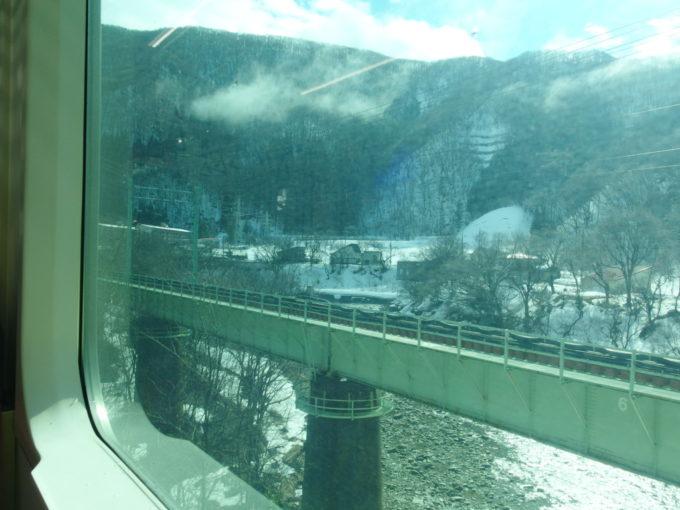 上越線水上から湯檜曽へと向かう雪景色