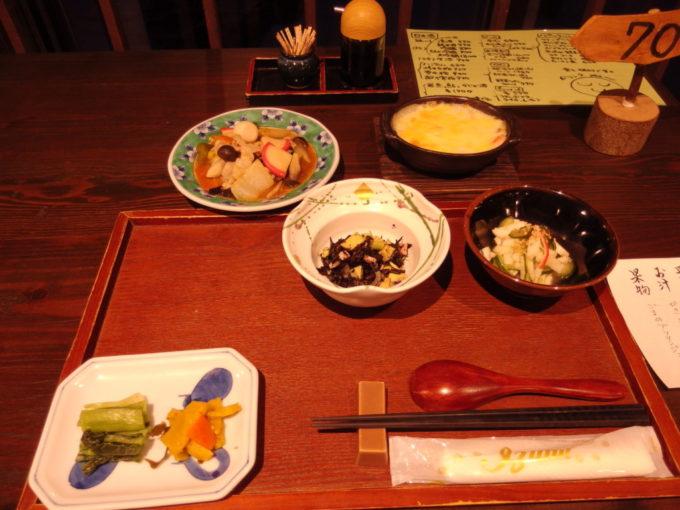栃尾又温泉自在館デトックス湯治コース1泊目夕食
