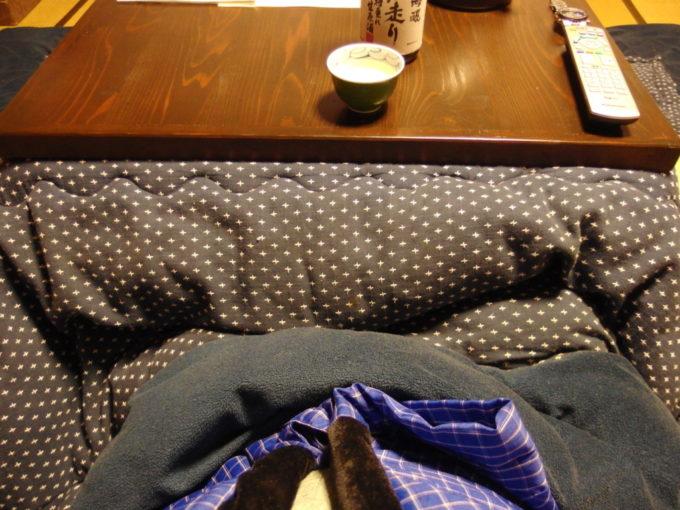 栃尾又温泉自在館こたつで味わう旨い酒
