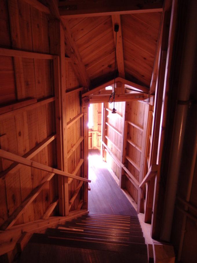 栃尾又温泉自在館霊泉したの湯へとのびる長い階段