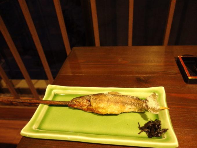 栃尾又温泉自在館追加注文の岩魚の炭火焼