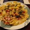 九条ねぎとミニトマトのカマンベールパスタ