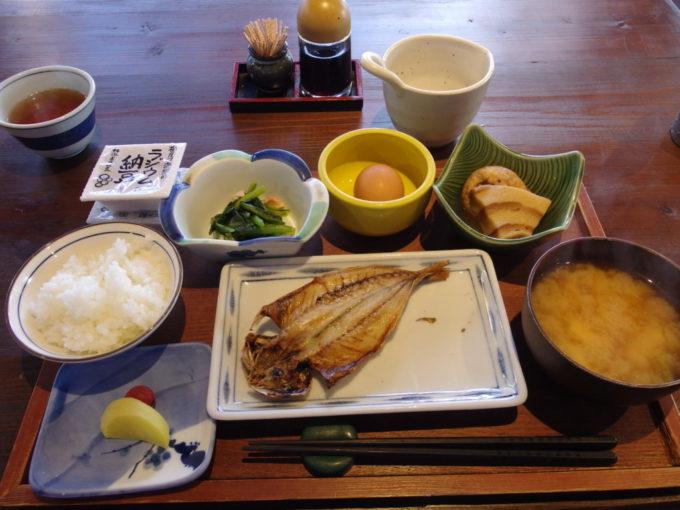栃尾又温泉自在館3泊目朝食