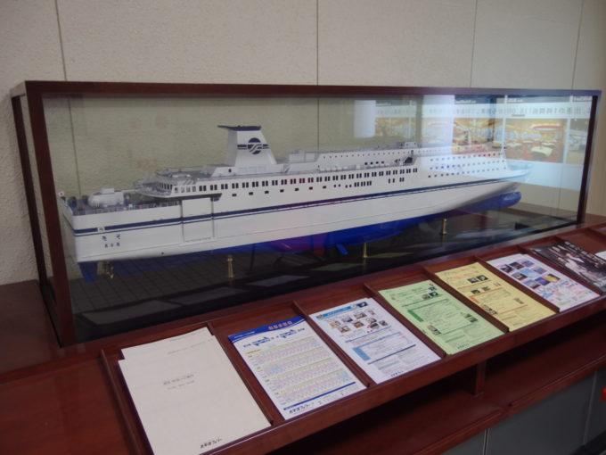 名古屋フェリー埠頭内の太平洋フェリーきその模型