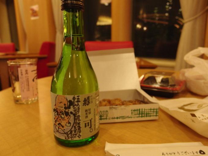 太平洋フェリーきそ船上で関谷醸造特別純米酒可。