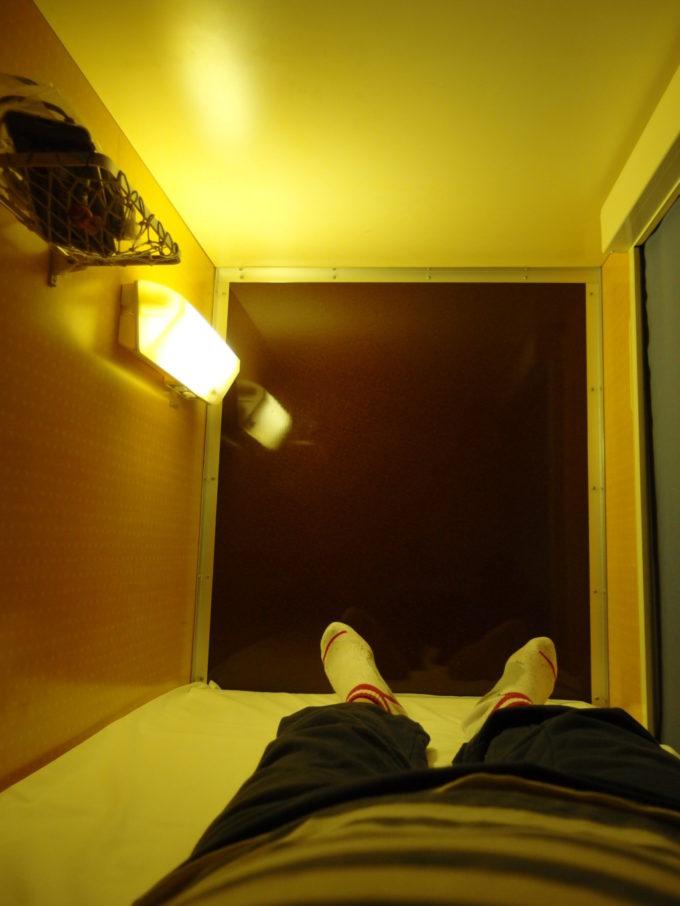 太平洋フェリーきそ快適なB寝台のブース内