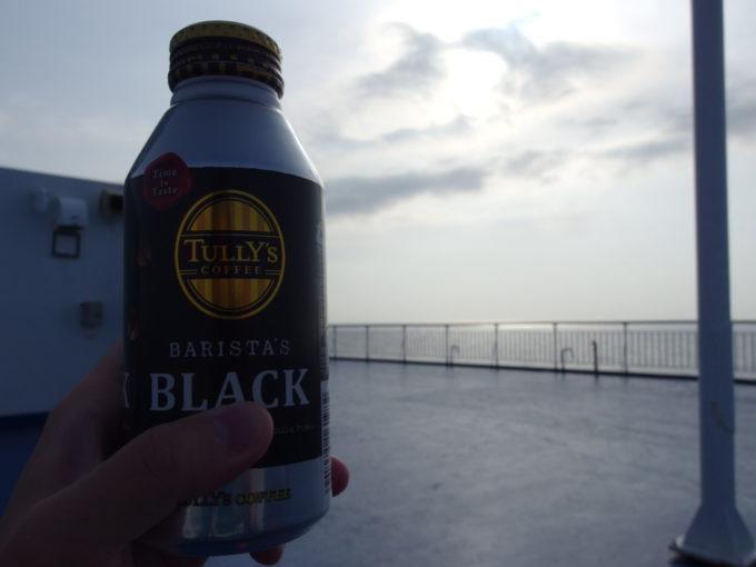 太平洋フェリーきそ千葉沖で味わうモーニングコーヒー