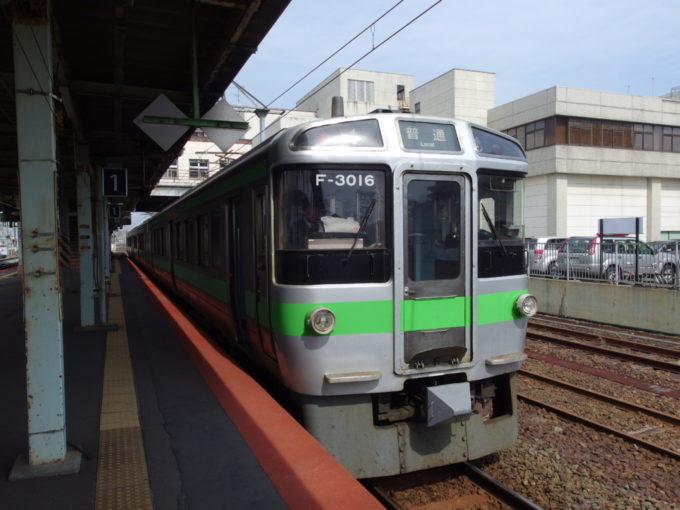 JR北海道721系苫小牧発小樽行き