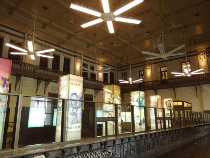 日本銀行旧小樽支店金融資料館当時の雰囲気を色濃く残す営業場