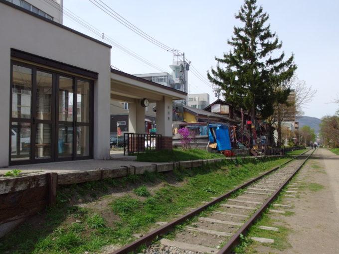 国鉄旧手宮線廃線跡復元された旧色内駅