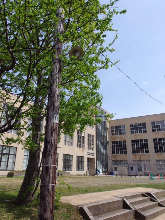 旧国鉄手宮線廃線跡旧色内駅向かいに建つ旧郵政省小樽地方貯金局市立小樽文学館