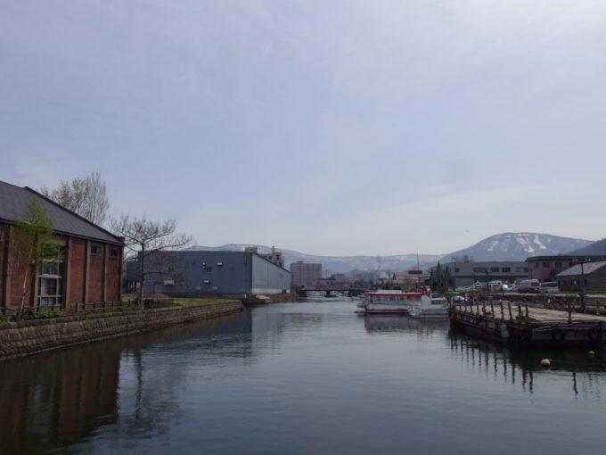 当時の幅を残す小樽運河北端