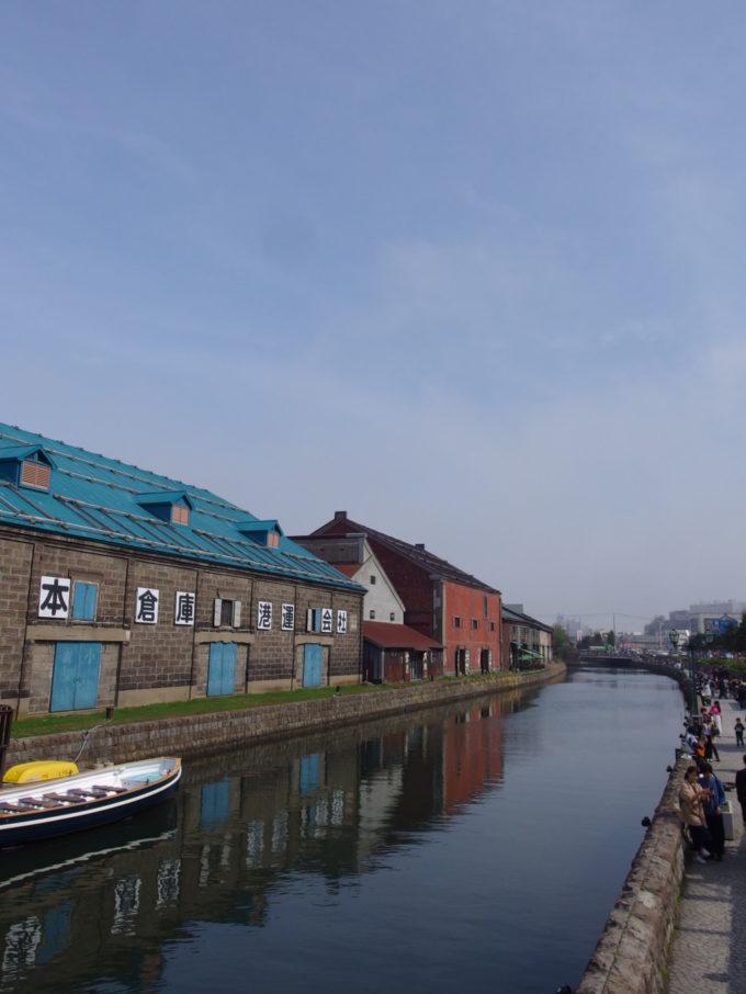 小樽運河沿いに建つ倉庫群