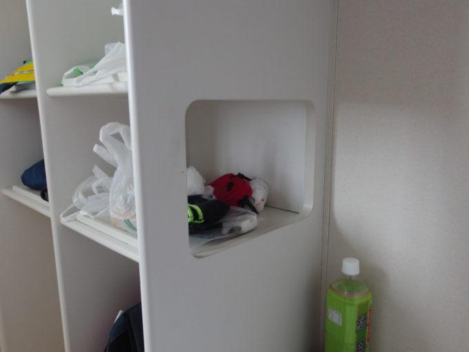 新日本海フェリーはまなすツーリストA(寝台)便利な荷物棚の窓