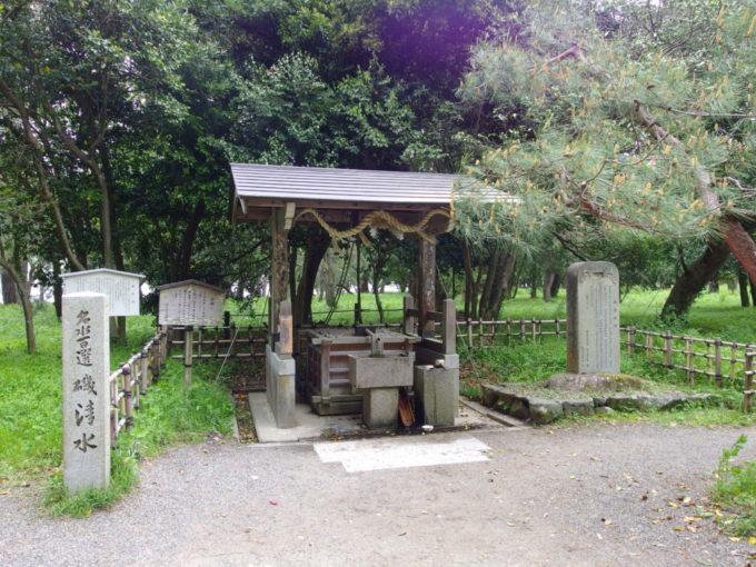 日本三景天橋立海の中にもかかわらず真水が湧く不思議な磯清水
