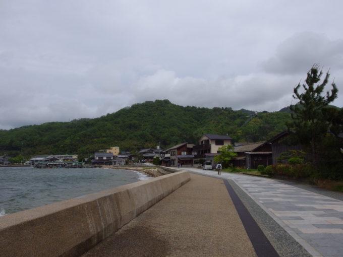 日本三景天橋立を渡り切り対岸の府中・傘松地区へ