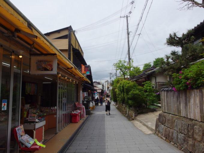 日本三景天橋立海の観光地らしい雰囲気が漂う府中・傘松地区