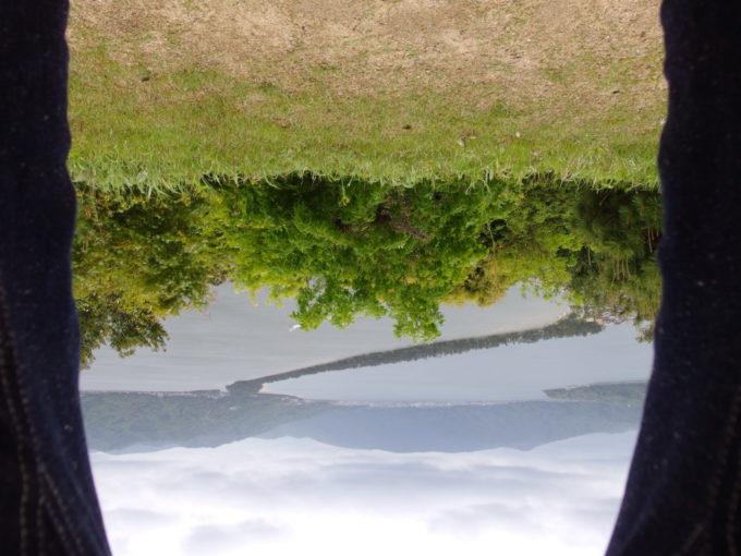 日本三景天橋立発祥の地傘松公園で股のぞき