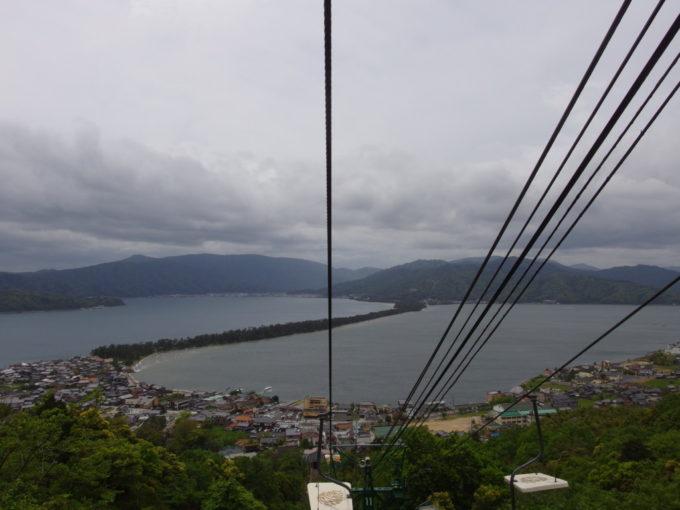 日本三景天橋立下りのリフトから見る絶景