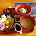 日本三景天橋立つるや食堂アオリイカとアカモクとバイ貝の丹後お宝丼