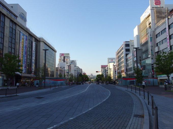 姫路駅の駅前通りの先に聳える白鷺城姫路城