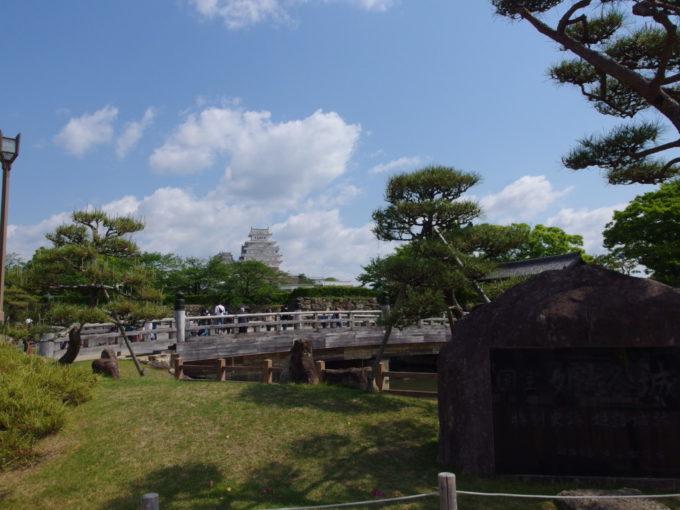 初夏の晴れ空の姫路城入口