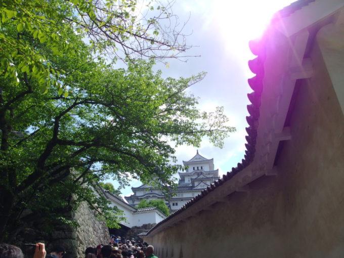 迷路のごとく長い通路が続く姫路城