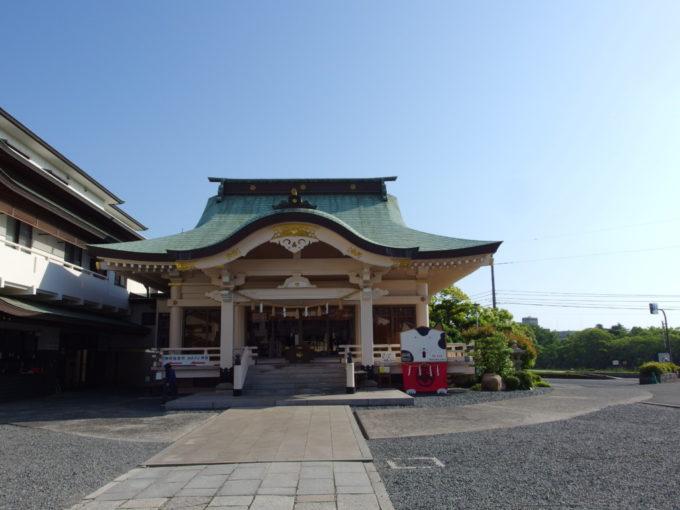 備前岡山総鎮守岡山神社拝殿