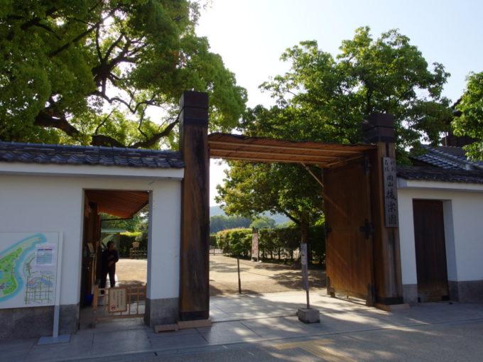 日本三名園後楽園入口