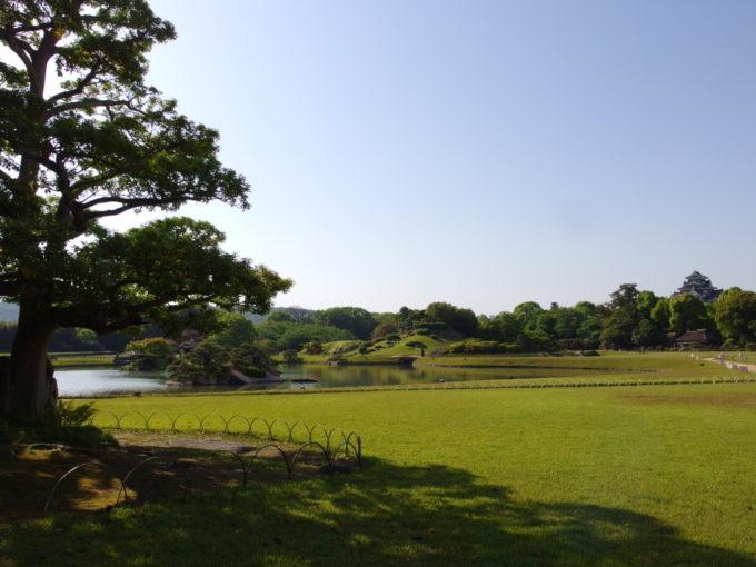 日本三名園後楽園青々とした広大な芝生