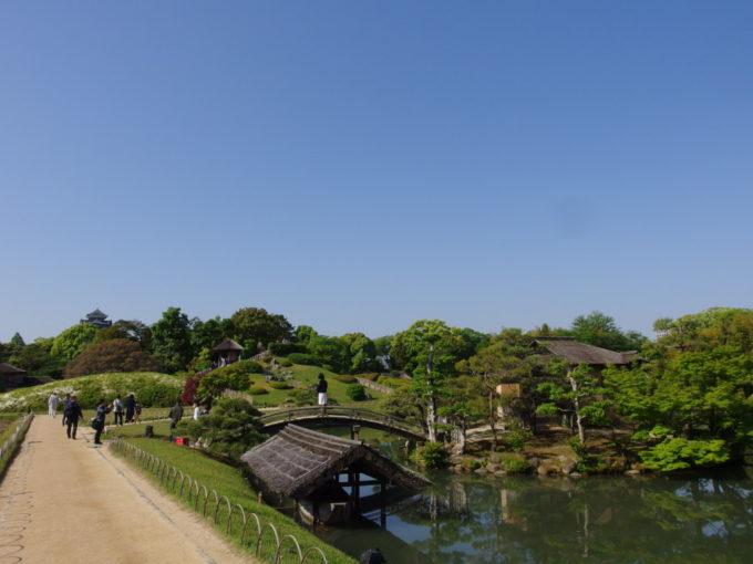 日本三名園後楽園庭園に表情を与える唯心山