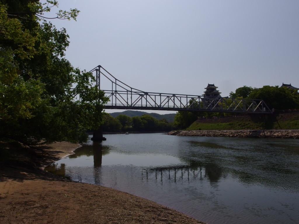 後楽園と岡山城を結ぶトラス式の月見橋