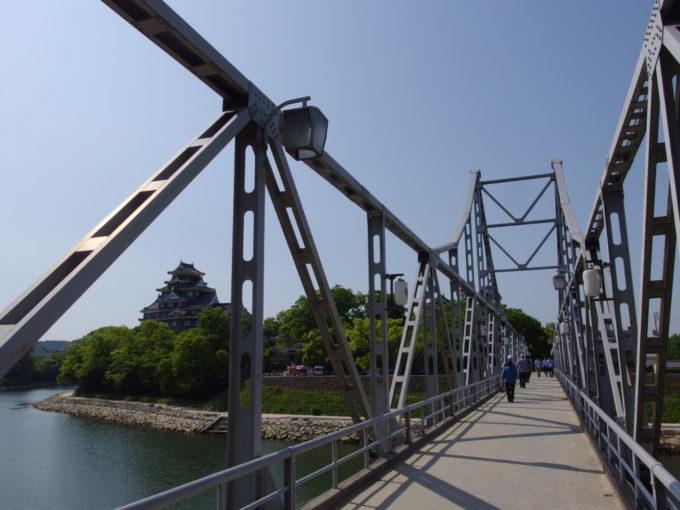 華奢なトラスが美しい岡山旭川の月見橋