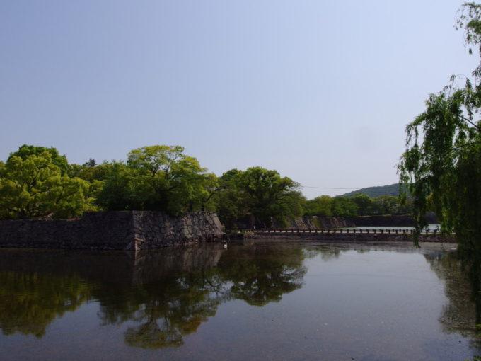 岡山城に残る掘割