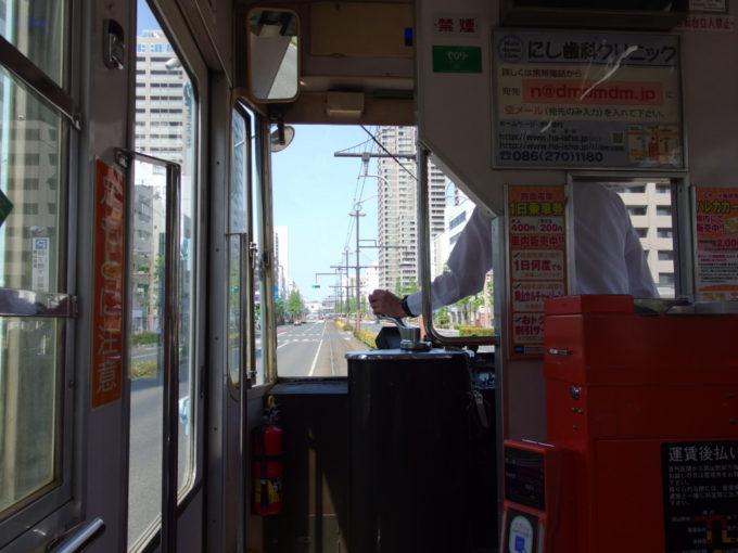 岡山電気軌道路面電車から眺める岡山の街