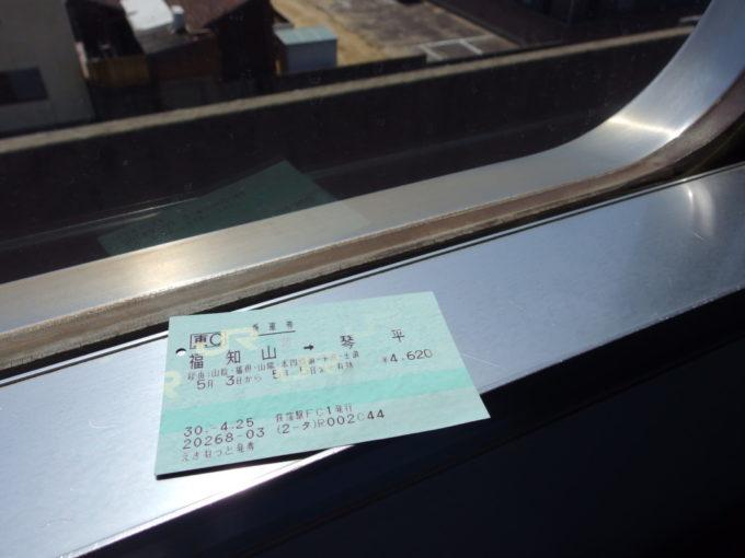 福知山発琴平行き普通乗車券