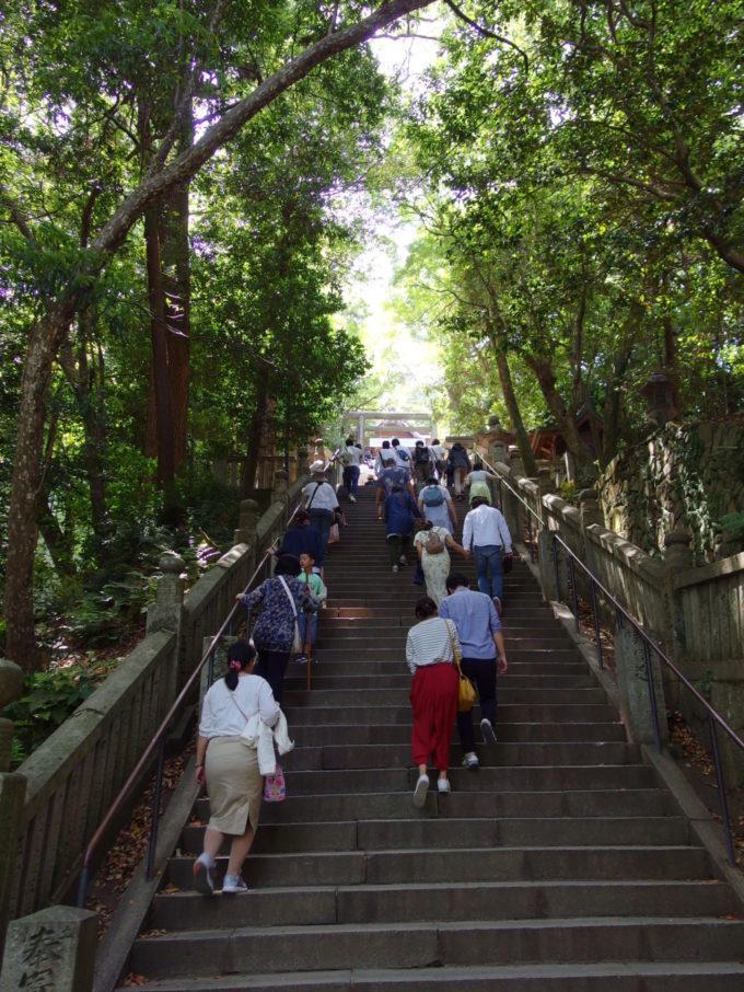 金刀比羅宮最後の登り御前四段坂