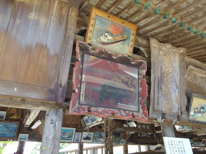 金刀比羅宮数多くの船の絵馬が奉納される絵馬殿