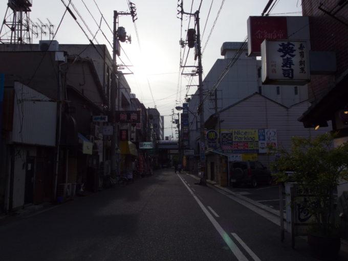 夕暮れ前の高松の街飲み屋街