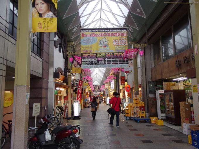 日本一長いアーケード高松中央商店街を構成する8つの商店街のひとつ、ライオン通商店街アーケード