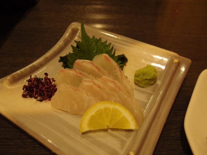 高松快食道楽秀鯛のお刺身